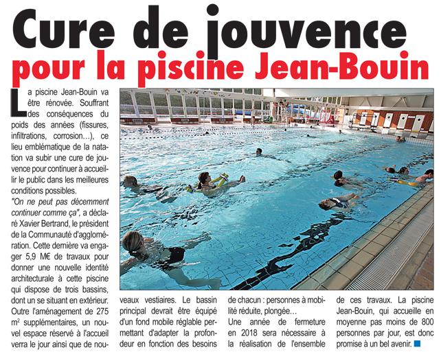 Cure de jouvence pour la piscine jean bouin st quentin mag for Piscine jean bouin